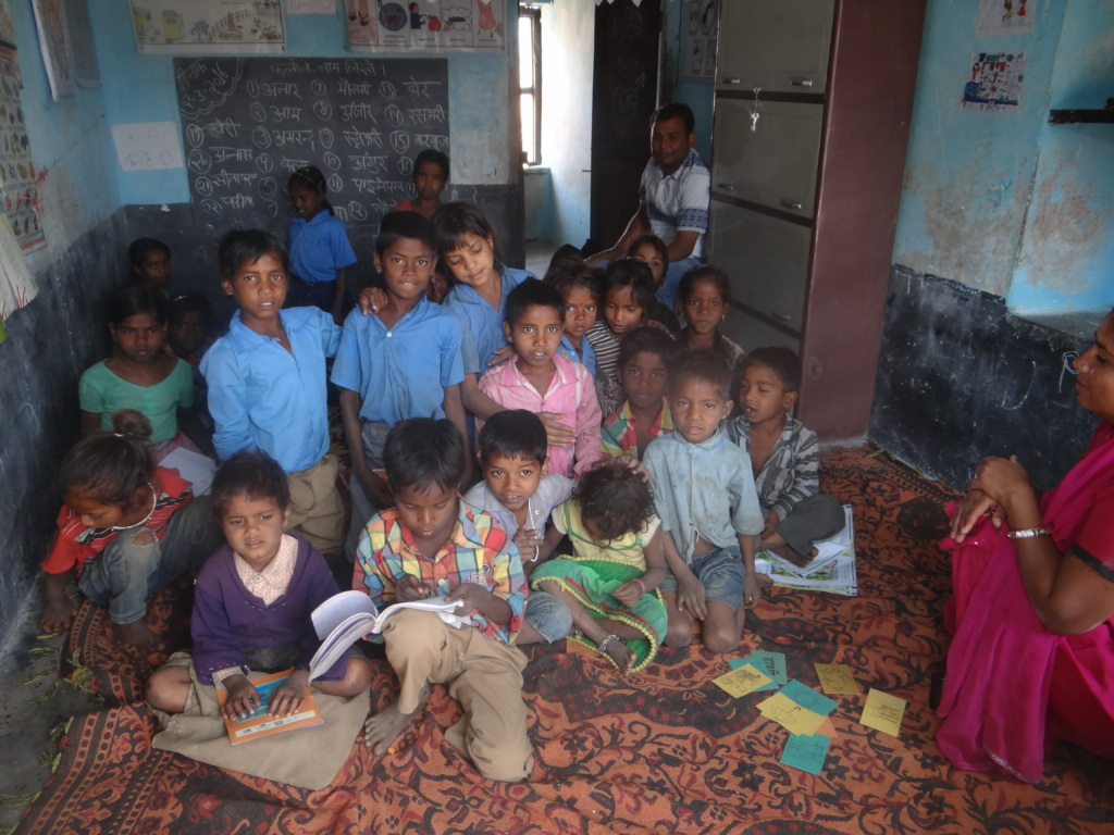 "A bunch of 20 children welcomed my with""Namaste!"""