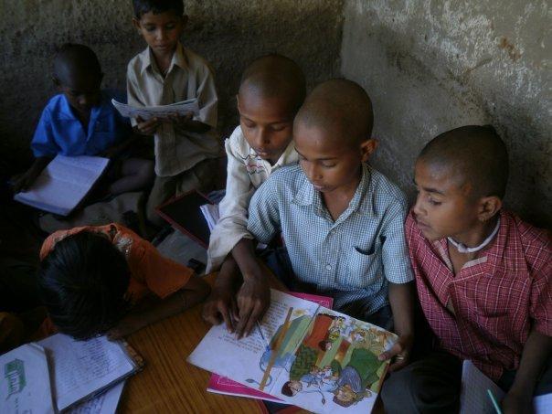 Children at a rural school
