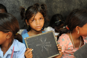 Photo of one of the girl at our Education Centre