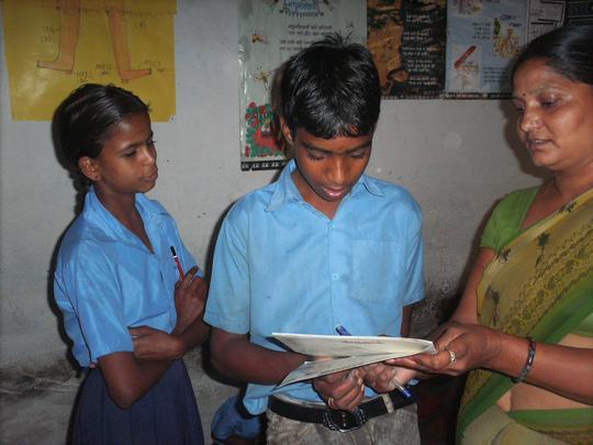 Meethalal with his teacher