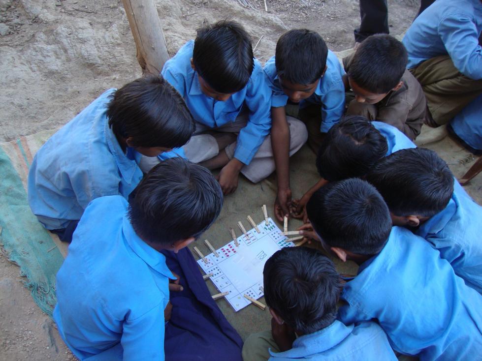 Children busy in studies