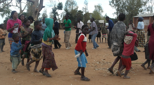 Kudya Koma Uku engages villagers through dance