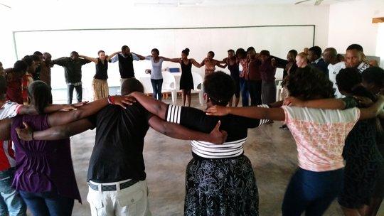 Dreamers participate in team-building activities.