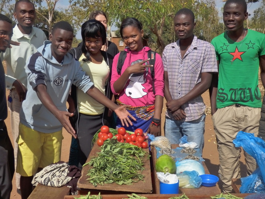 Kudya Koma Uku proudly displays healthy vegetables