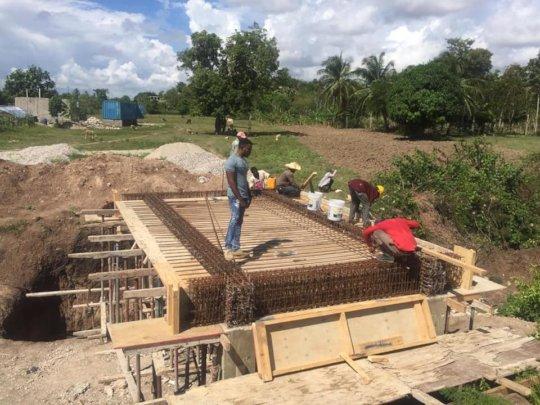 Bridge construction on LFBS land - and jobs!