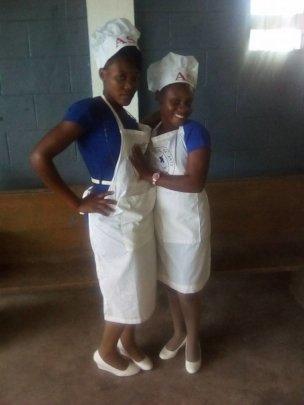 Cooking school graduates!