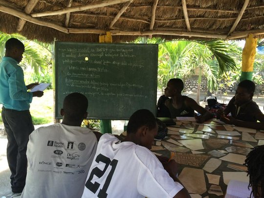 Class time with Our Garden Haiti project