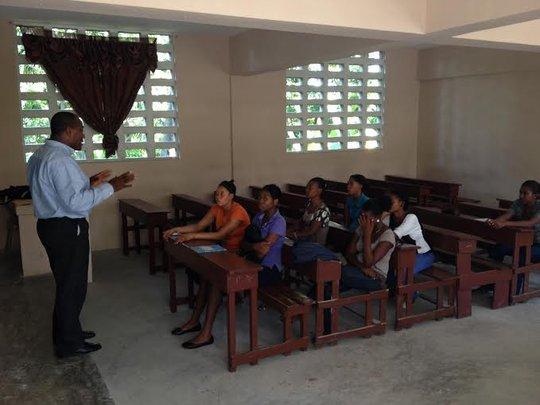 Classroom training with Marine Institute Training