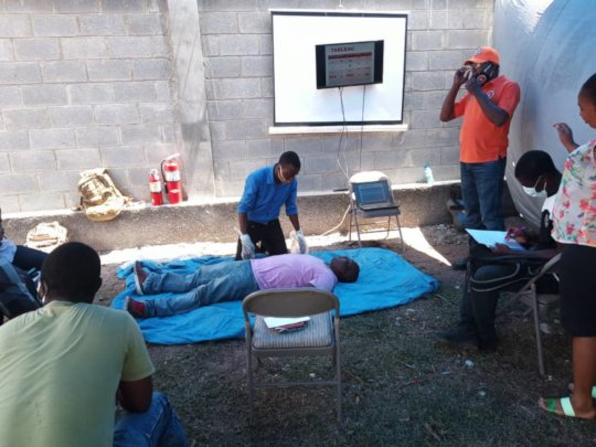 LFBS Staff in CPR training