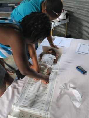 Training on infant measure and weighing
