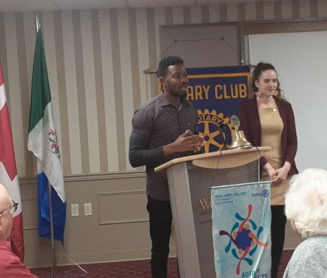Sharing at Rotary Clubs and community events