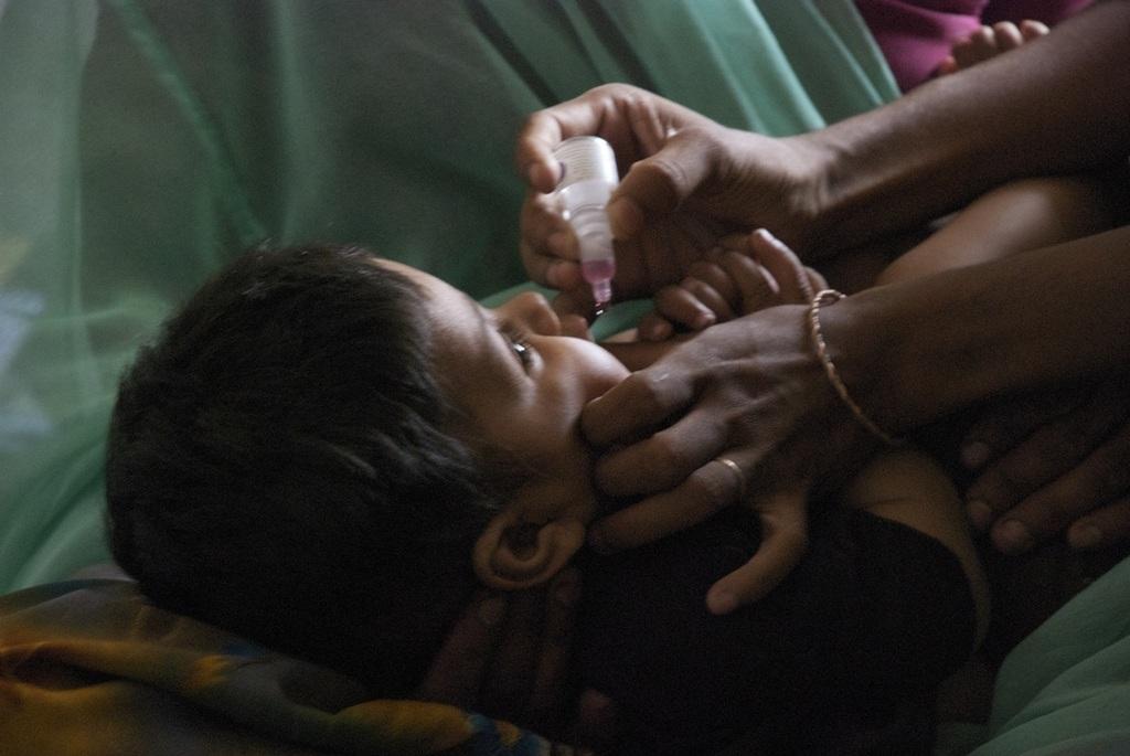 two drops of polio vaccine