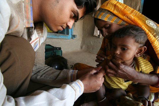 Child recieving vaccination