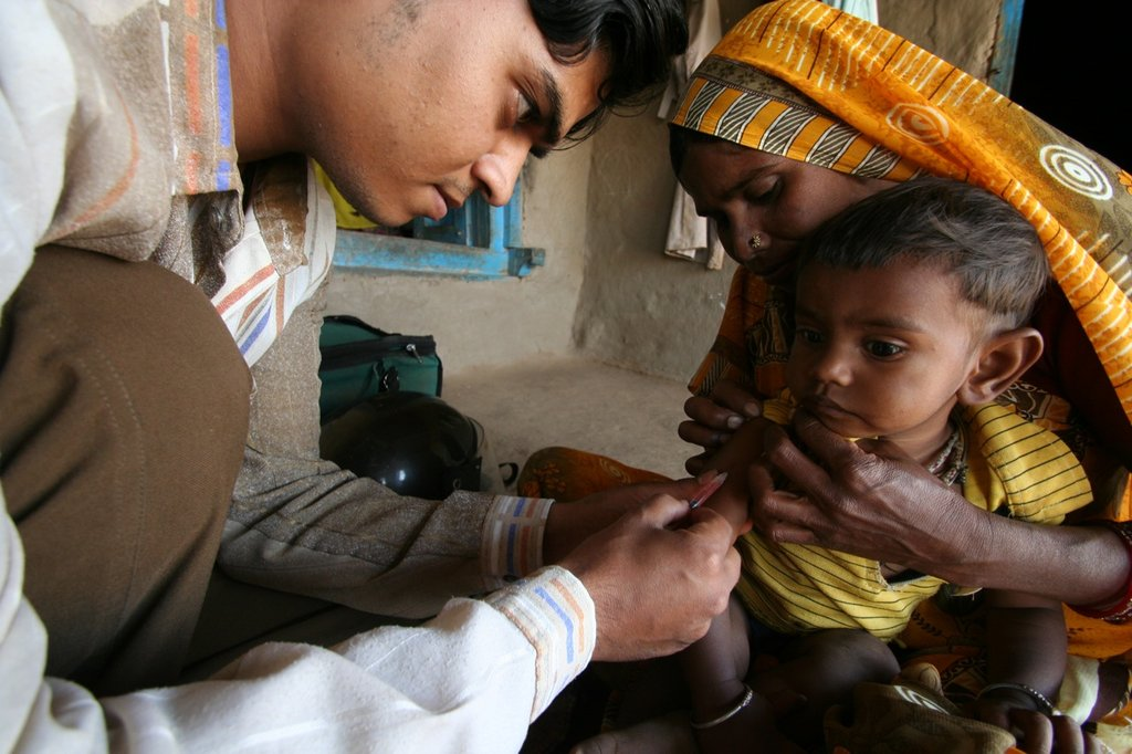Child recieving vaccination