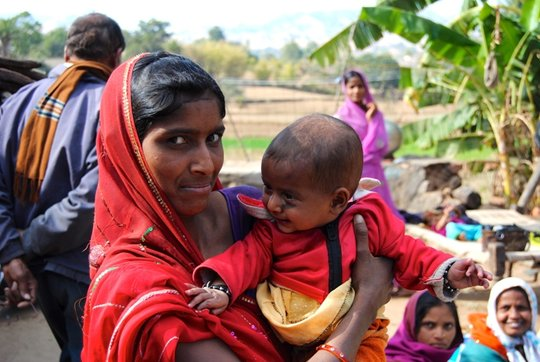 Bindu with her child