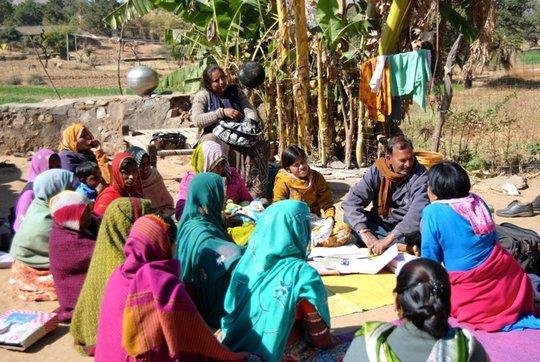 Bindu's friends also came for immunization