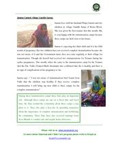 Jamna learns the importance of immunization... (PDF)