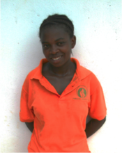 Lidia, one of our scholarship students