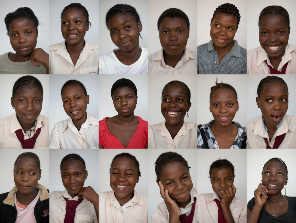 Montage of the 8th grade girls (one is missing!).