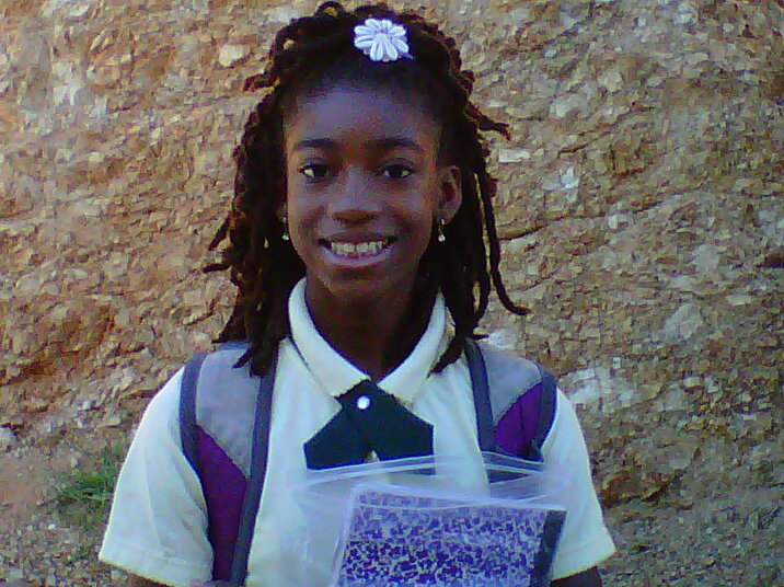 Ayana on her way to school