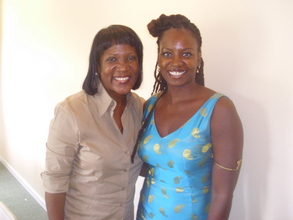 Angela D Coleman (right) & USVI Second Lady Cheryl