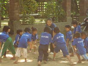 Kindergarten students in the Half Day School