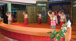 Performing traditional Thai dance