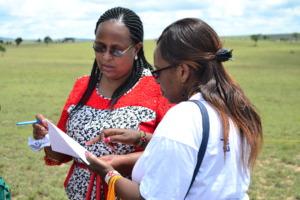 Teresiah's teachers, Ms. Mwangi & Ms. Sanare