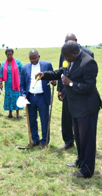 Clergy blesses the donated land