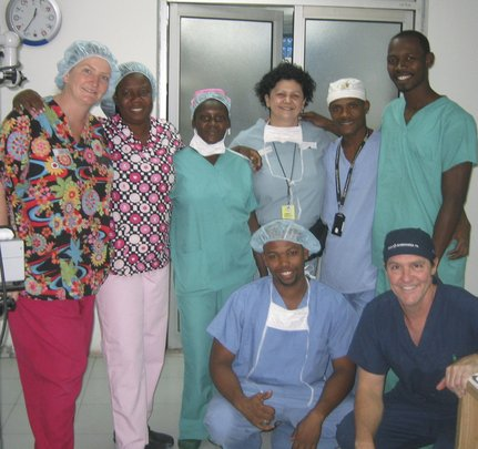 Partnering with the local staff in Haiti