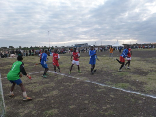 Football and Condoms League in Action