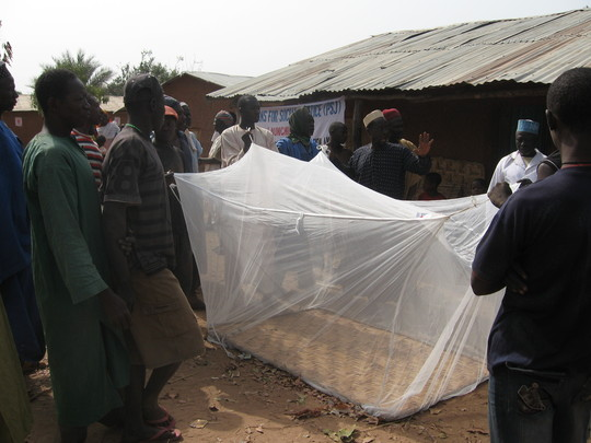 Practical demostration session by PSJ Malaria team on use and m