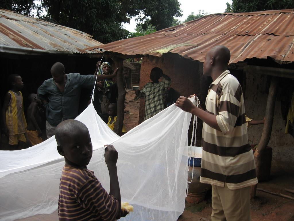 ITN demostration during a house hold visit at Nasara village