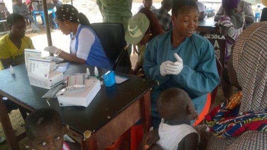 Malaria outreach Tegina