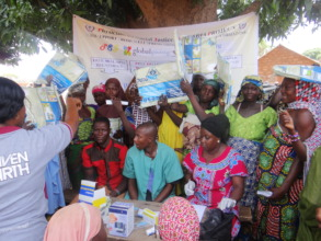 RDT and ITN distribution at Tungan gari village