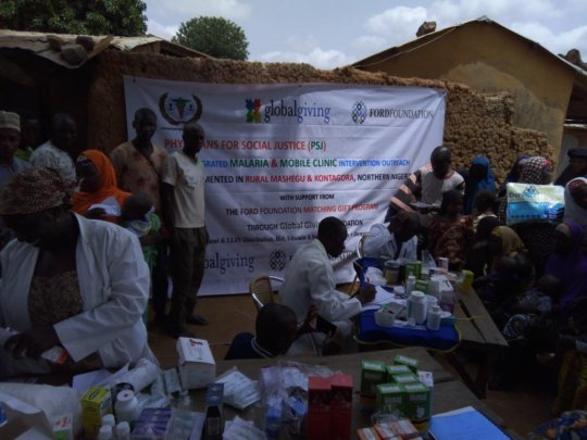 malaria outreach clinic Kawo village