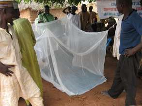 Insecticide treated nets (ITN) demostration sessio