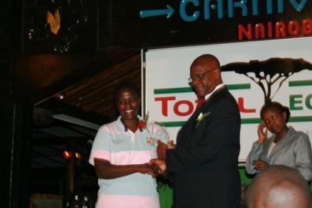 Dr. Liz Odera receives Total Eco-Challenge Award