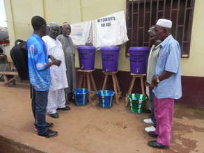 Delivering materials to Ganta Central Mosque