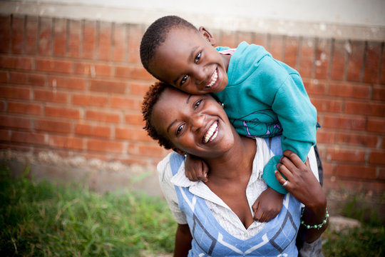 Eunice and her son.