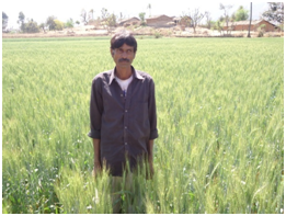 Photo of a villager at Bheroti Village