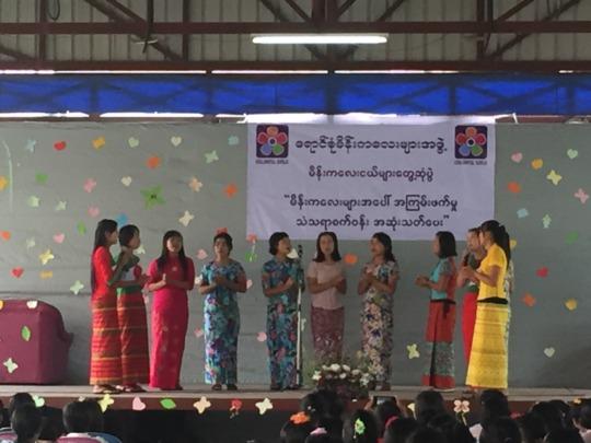 Girls singing at International Day of the Girl