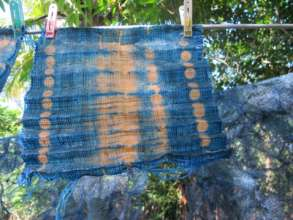 Shibori raffia products