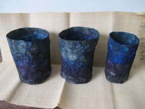 Dyed blue baskets
