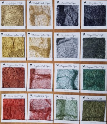 Color options for silk and raffia dyes