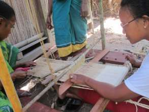 Artisans adapt skills to a homemade mini loom