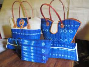 Handbags made by a design team in the capital