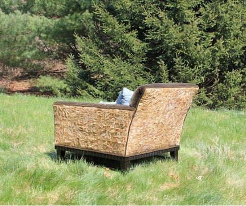 Wild silk chair made by Karen Brown