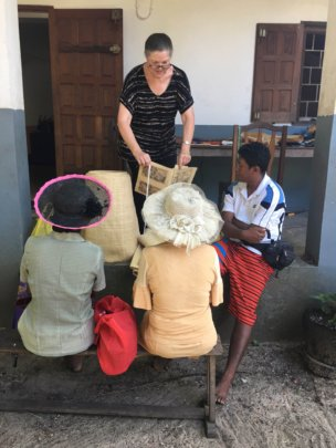 Docey compares quality of weaving to local weavers