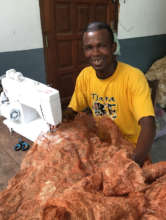 Sewing dyed textile with Mario